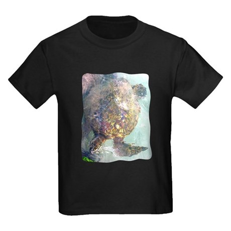 Watercolor Turtle Kids Dark T-Shirt