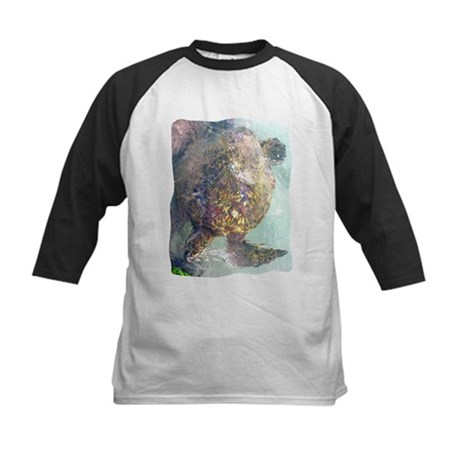 Watercolor Turtle Kids Baseball Jersey