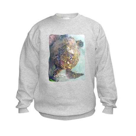 Watercolor Turtle Kids Sweatshirt