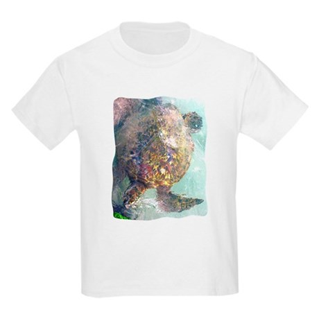 Watercolor Turtle Kids Light T-Shirt