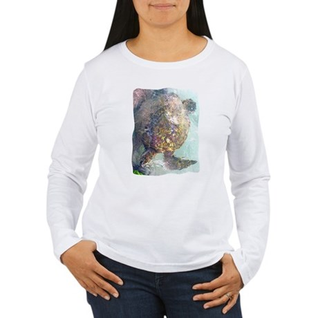 Watercolor Turtle Women's Long Sleeve T-Shirt