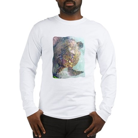 Watercolor Turtle Long Sleeve T-Shirt