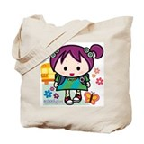 School Girl Tote Bag