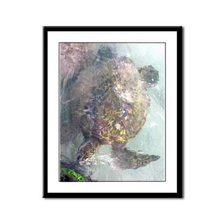 Watercolor Turtle Framed Panel Print