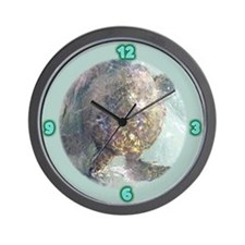Watercolor Turtle Wall Clock