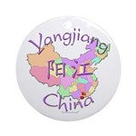 Yangjiang China Map Ornament (Round)