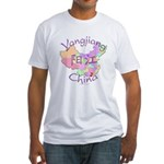 Yangjiang China Map Fitted T-Shirt