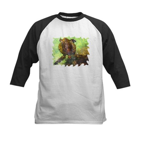 Turtle, Surfacing Kids Baseball Jersey