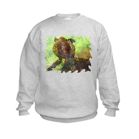 Turtle, Surfacing Kids Sweatshirt
