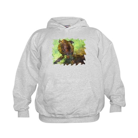 Turtle, Surfacing Kids Hoodie