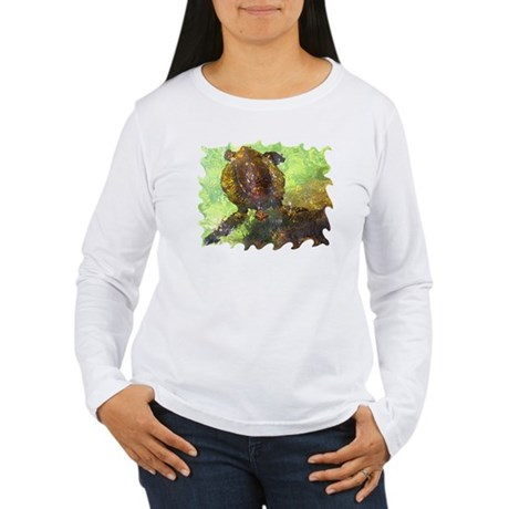 Turtle, Surfacing Women's Long Sleeve T-Shirt