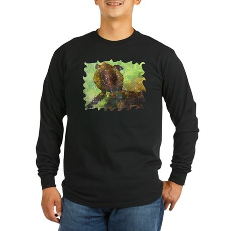 Turtle, Surfacing Long Sleeve Dark T-Shirt