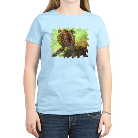Turtle, Surfacing Women's Light T-Shirt