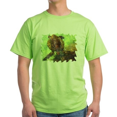 Turtle, Surfacing Green T-Shirt
