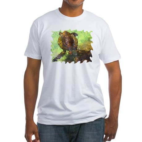 Turtle, Surfacing Fitted T-Shirt
