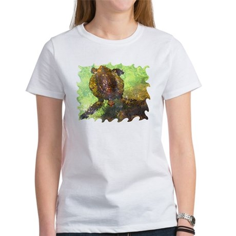 Turtle, Surfacing Women's T-Shirt