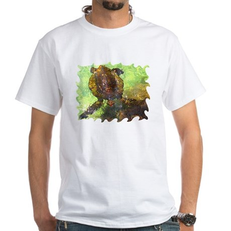 Turtle, Surfacing White T-Shirt