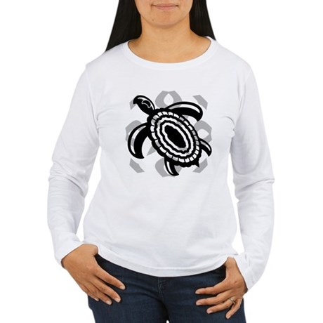 Cut Out Turtle Women's Long Sleeve T-Shirt
