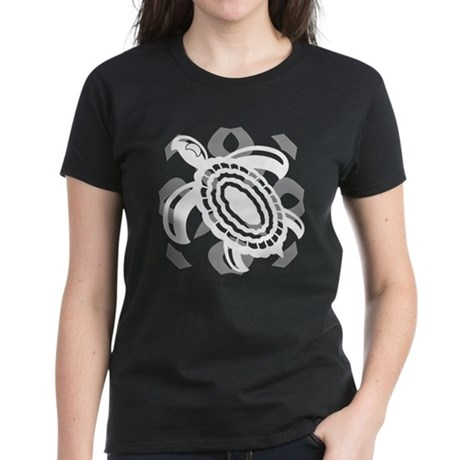 Cut Out Turtle Women's Dark T-Shirt