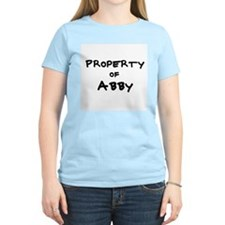 Property of Abby Women's Pink T-Shirt