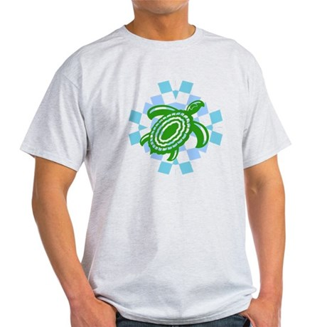 Green Cutout Turtle Light T-Shirt