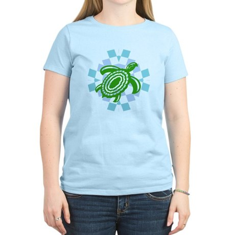 Green Cutout Turtle Women's Light T-Shirt