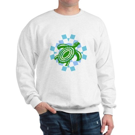 Green Cutout Turtle Sweatshirt