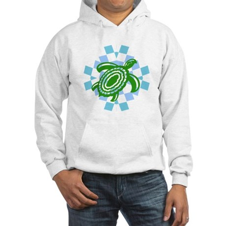 Green Cutout Turtle Hooded Sweatshirt