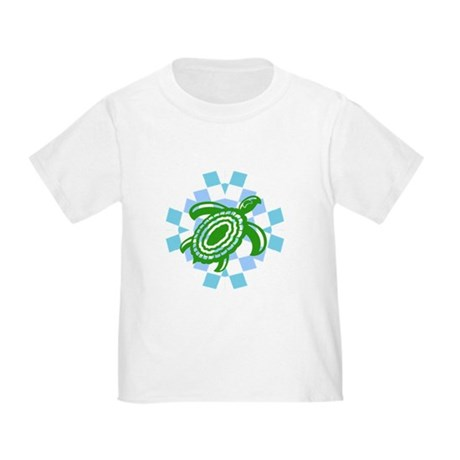 Green Cutout Turtle Toddler T-Shirt