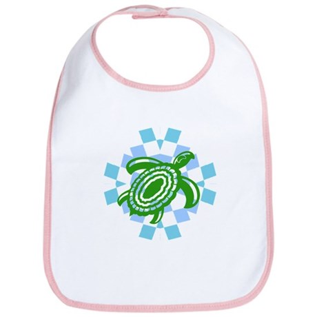 Green Cutout Turtle Bib