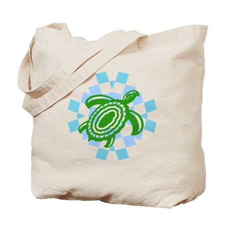 Green Cutout Turtle Tote Bag