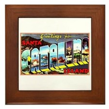 Catalina Island California Greetings Framed Tile