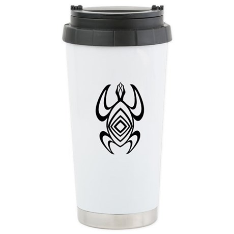 Turtle Symmetry Ceramic Travel Mug