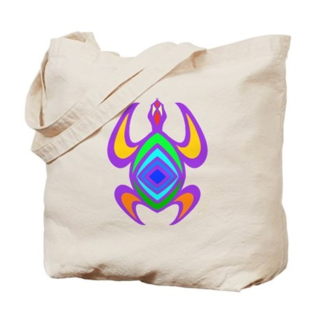 Turtle Symmetry Color Tote Bag