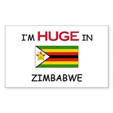 I'd HUGE In ZIMBABWE Rectangle Decal