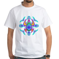 Turtle Symmetry Pattern White T-Shirt