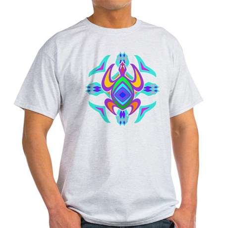 Turtle Symmetry Pattern Light T-Shirt