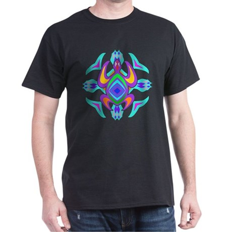 Turtle Symmetry Pattern Dark T-Shirt
