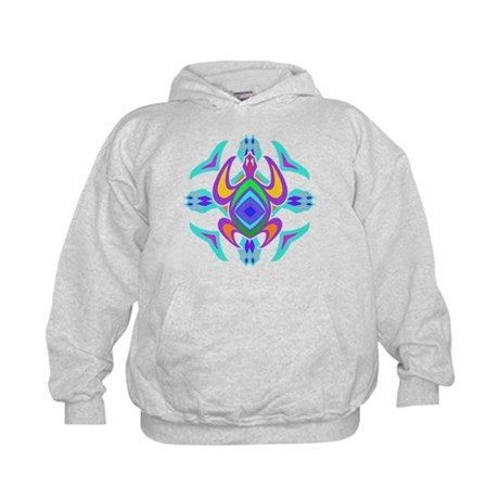 Turtle Symmetry Pattern Kids Hoodie