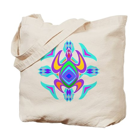 Turtle Symmetry Pattern Tote Bag
