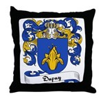 Dupuy Family Crest Throw Pillow