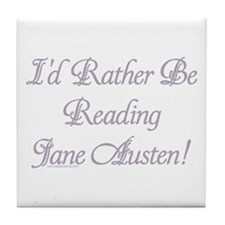 Rather be Reading J.A. Tile Coaster