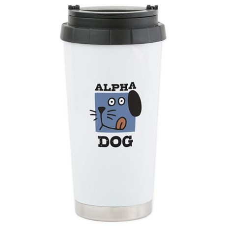 Alpha Dog Ceramic Travel Mug