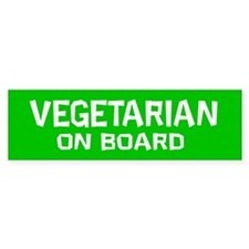 Vegetarian On Board (Bumper Sticker)