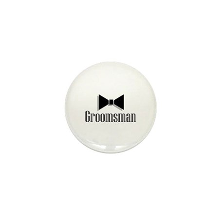 Groomsman (Black Bow Tie) Mini Button