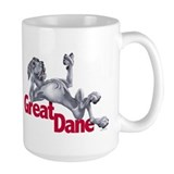 Blue Great Dane LBUC Ceramic Mugs