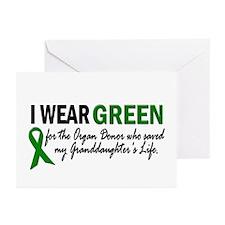 I Wear Green 2 (Granddaughter's Life) Greeting Car