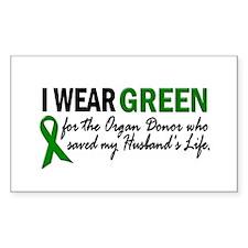I Wear Green 2 (Husband's Life) Decal