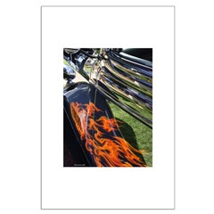 Fire and Chrome Large Poster