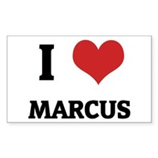 I Love Marcus Rectangle Decal